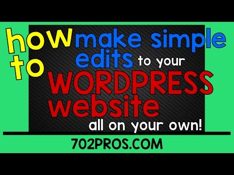 How to make simple text edits to your WordPress website | Change text in WordPress