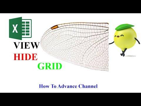 Excel | Làm thế nào: Ẩn Hiện Cài Đặt Đướng Lưới - Grid Line Ngăn Cách Các Ô Trong Excel