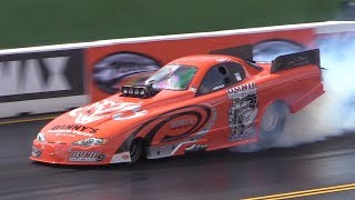 Top Methanol Dragster & Funny Cars at NitrOlympX 2017 - 5 Second Monster!