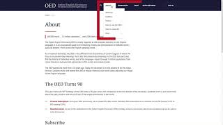 How-to use the OED | Finding the help section