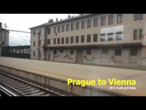Train from Prague to Vienna / Window View / Europe