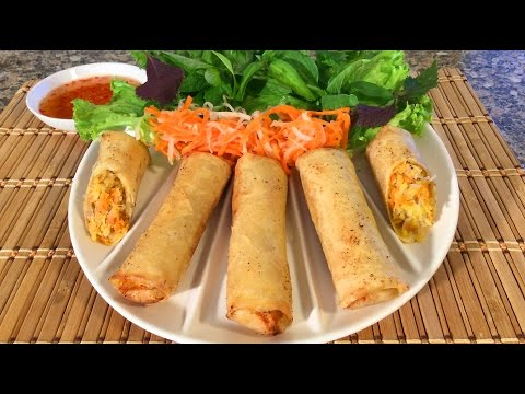 How To Make Vietnamese Egg Rolls Cha Gio Crispy Spring Rolls Food Recipes