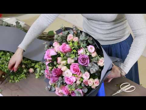 DIY: How to wrap a Flower Bouquet - Mixed Roses Bouquet | Gift Flowers Singapore