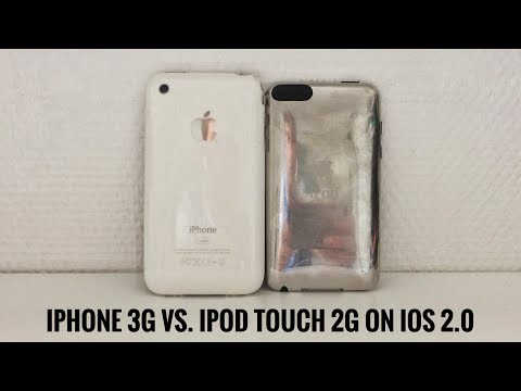 iPod touch 2G vs. iPhone 3G running iPhoneOS/iOS 2.2.1