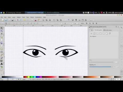 Draw simple manga eyes in inkscape