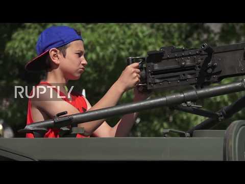 Latvia: Kids get hands-on demo of US military hardware ahead of Saber Strike drills