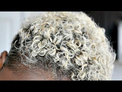How to REVIVE curls on BLEACHED twa hair | Wash N GO
