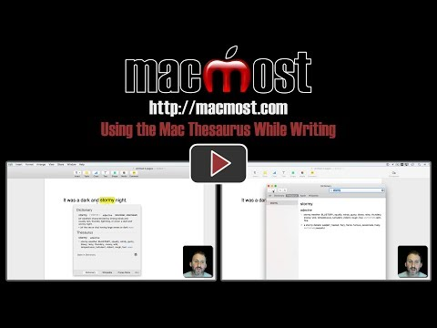 Using the Mac Thesaurus While Writing (#1418)