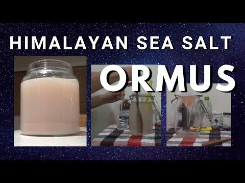 How To Make Homemade ORMUS - Sea Salt Himalayan