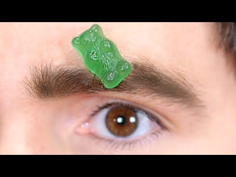 CANDY STUCK IN EYEBROW!