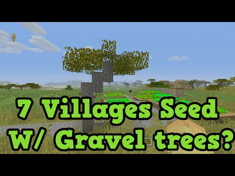 Minecraft Xbox / PS3 - 7 Villages Seed With Gravel Trees