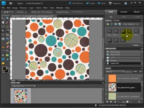 Digital Scrapbook Tutorial: Creating Peek-a-Boo (or Swiss Cheese Cutout) Papers
