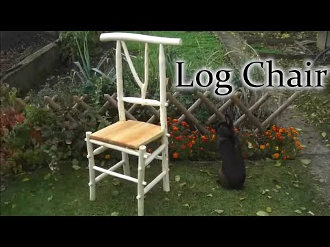 How to make log chair with hand tools