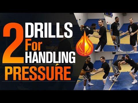 2 Drills For Handling HIGH PRESSURE Defense with NBA Skills Coach Drew Hanlen