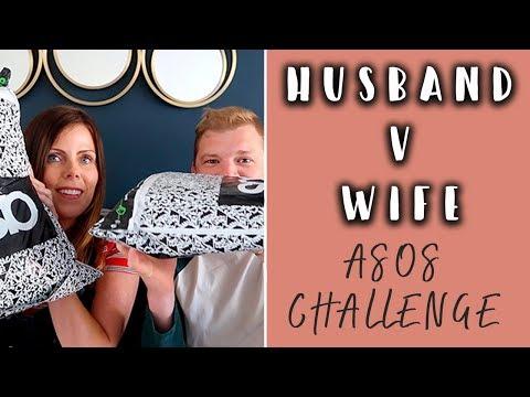 HUSBAND VS WIFE ASOS HAUL CHALLENGE