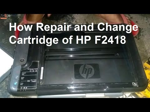 [Hindi-हिन्दी] How to Repair and Change Cartridge of HP Deskjet F2418 (Part 1)