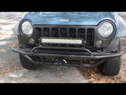Jeep Liberty custom bumper installed