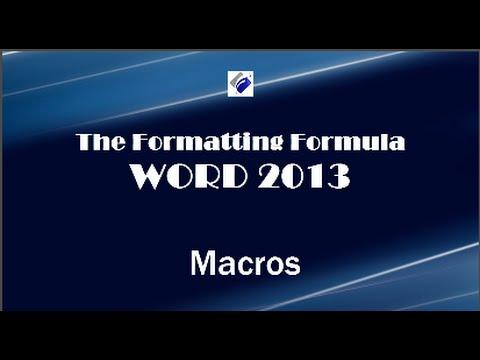 Word 2013   Macros