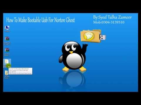 How To Make Bootable Usb For Norton Ghost By Syed Talha ZameerIn Urdu