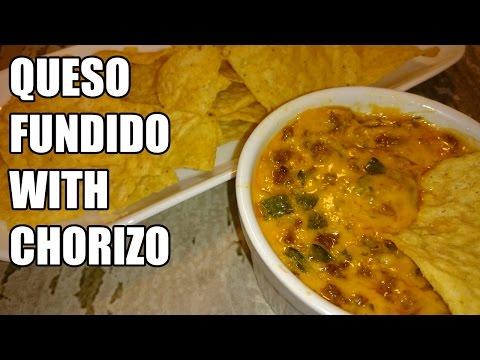 Queso Fundido con Chorizo/Melted Cheese & Chorizo Dip Recipe   Episode 103