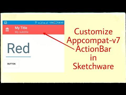 Modifying SupportActionBar in Sketchware