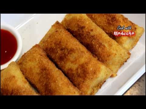 Tandoori Chicken Bread Rolls Recipe - Homemade Tandoori Bread Rolls by COOK WITH MADEEHA
