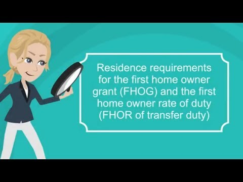 FHOG Residence Requirements