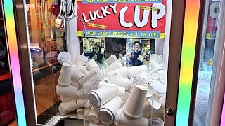 FOUND A MYSTERY CUP CLAW MACHINE!!! (WHAT
