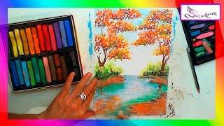 Dibujar Este Paisajes Con Gis Pastel Facilsencillo Y Rapido Daikhlo