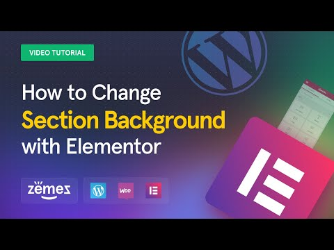 How to Change Section Background with Elementor