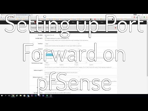 Setting up PORT FORWARD on pfSense