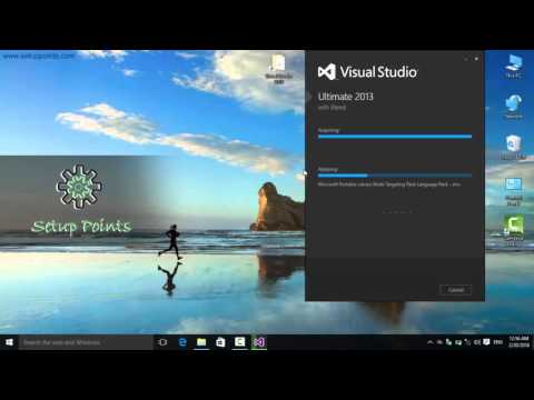 How to install Visual Studio 2013 in windows 10