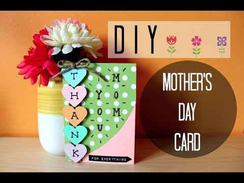 DIY EASY MOTHERS DAY CARD I Simple Cute