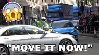 ''I DON'T CARE! MOVE IT NOW! - Officer SHOUTS as Mercedes BLOCKS Police in London!