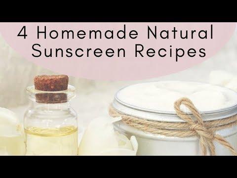 Homemade & Natural Sunscreen Recipes For Summer
