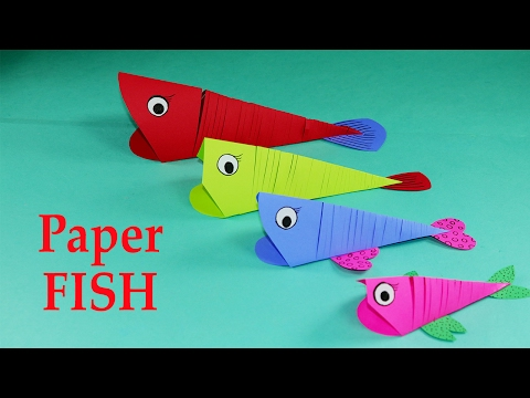 Paper Crafts for Kids - Easy Paper Fish Crafts DIY Tutorial