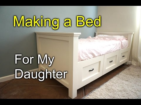 DIY farmhouse bed for my daughter