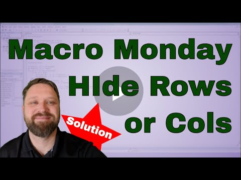 Macro Monday Hide Columns or Rows of the Selection - Solution