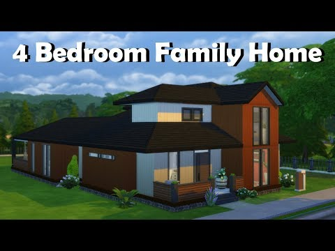 Sims 4 | House Building | 4 Bedroom Family Home