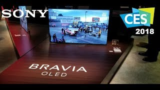 Sony New 2018 TV line up Oled A8F and X900F CES 2018