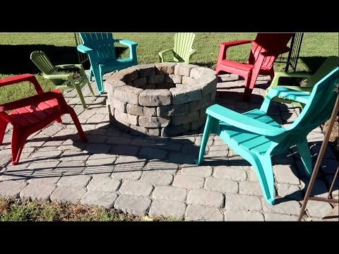 HOW TO BUILD A PATIO AND FIREPIT