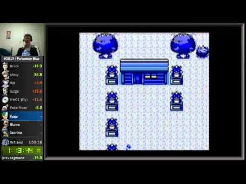 Pokemon Blue: 1:57 Speedrun Glitchless Single Segment Speed Run