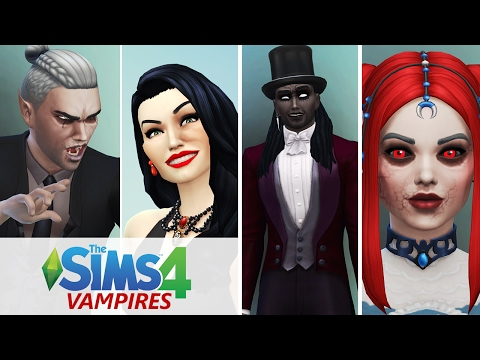 Let's Play The Sims 4 Vampires | Creating The Family (CAS)