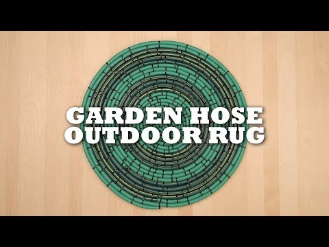 DIY Garden Hose Rug