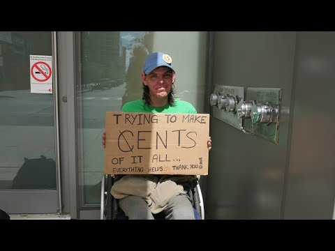 Jennifer is in a wheelchair disabled and STILL homeless in Toronto.