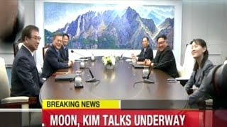 """""""I Hope You Really Enjoy The Noodles That We Brought"""" Kim Jong Un And President Moon Begin Talks"""