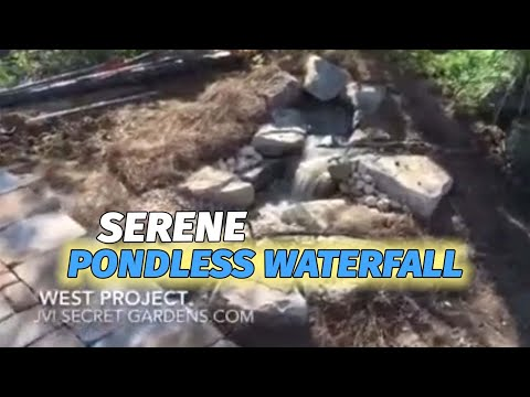 Back yard landscaping with a Aquascape Pondless waterfall in Gallatin, TN