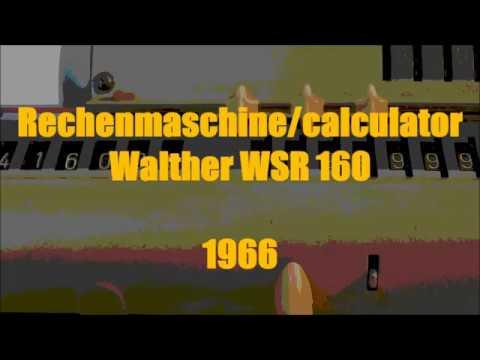Ausrechnen von PI/ Calculation of PI (Rechner/calculator Walther WSR 160)