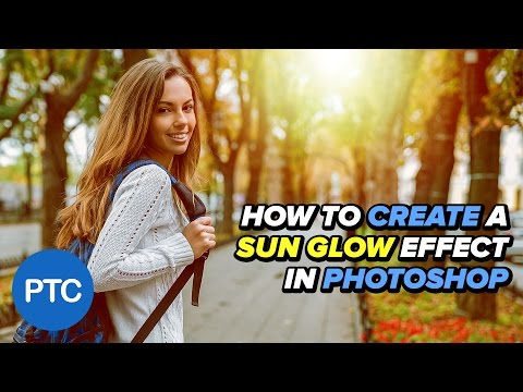 How To Create a SUN GLOW Effect in Photoshop - SUN FLARE Tutorial