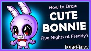 CUTE Five Nights At Freddys - How to Draw Freddy Fazbear